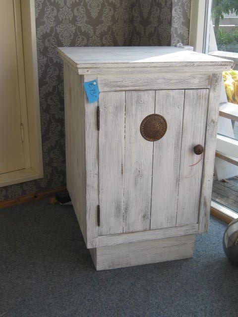 Kastje oude look voor bijv wastafelonderkast Van oud hout - unterschrank küche selber bauen