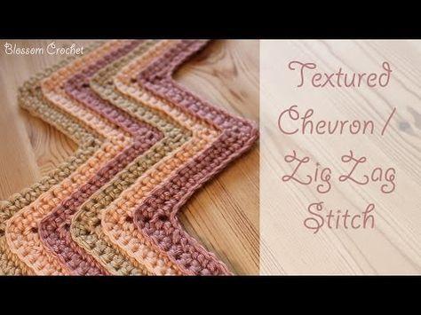 great instructor Crochet Textured Chevron / Zig Zag Stitch - YouTube ...
