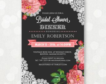 Printable Bridal Shower Invitation Bridal Brunch por AmeliyCom