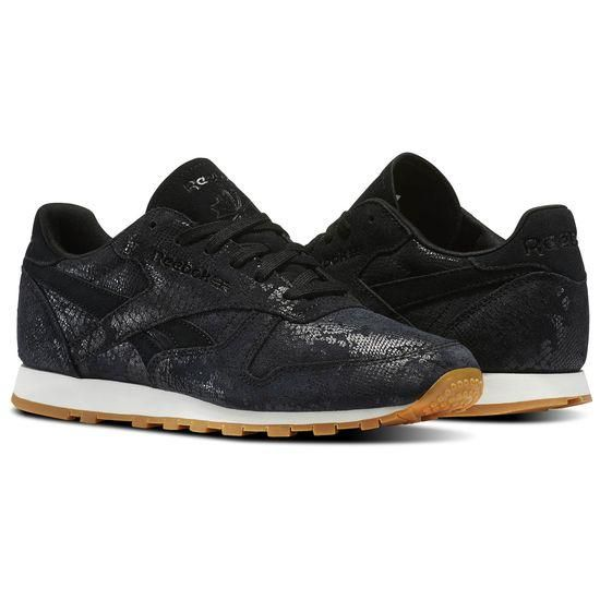 REEBOK CLASSIC LEATHER CLEAN EXOTIC WOMENS SNEAKERS  c08c0ce94