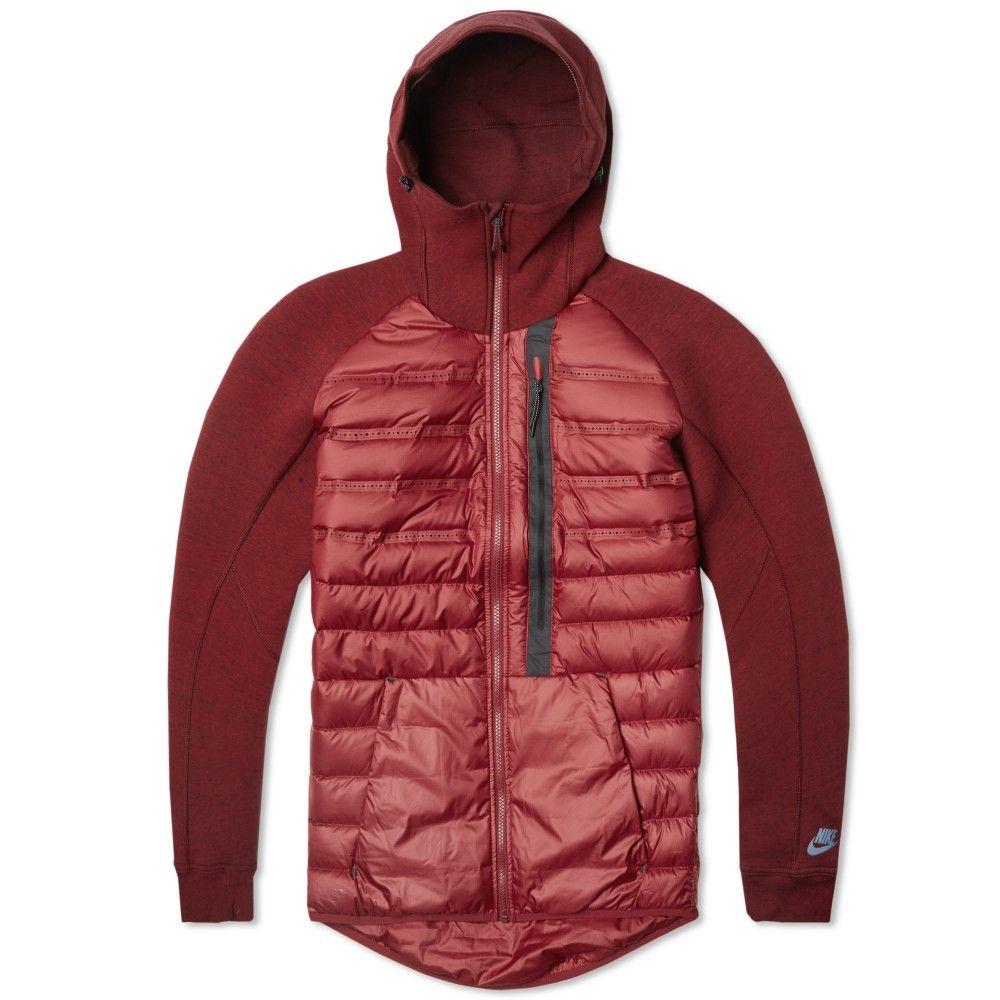 nike tech fleece aeroloft jacket team red burgundy. Black Bedroom Furniture Sets. Home Design Ideas