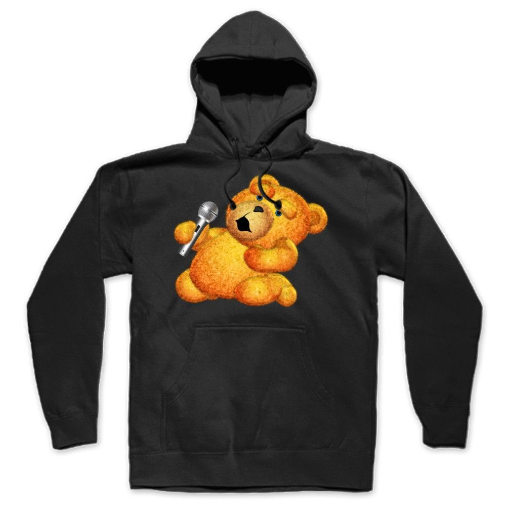 Lazzy Teddy Bear Karaoke Blue Eyes Hoodie