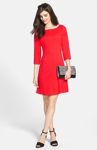 a613d8e1bb316 Vince Camuto Crepe A-Line Dress (Regular   Petite)