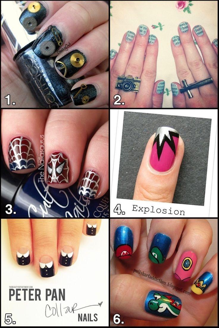 Nerdy Nail Art - Nerdy Nail Art Pinterest Creative Nails, Makeup And Nail Nail