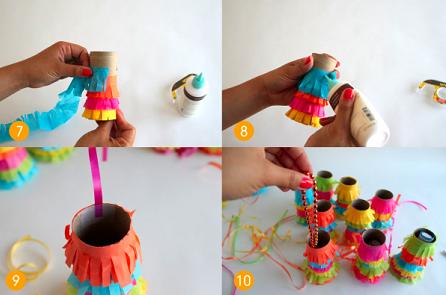 Como hacer pi atas mini personalizadas ideas paso a paso - Como hacer adornos para fiestas ...