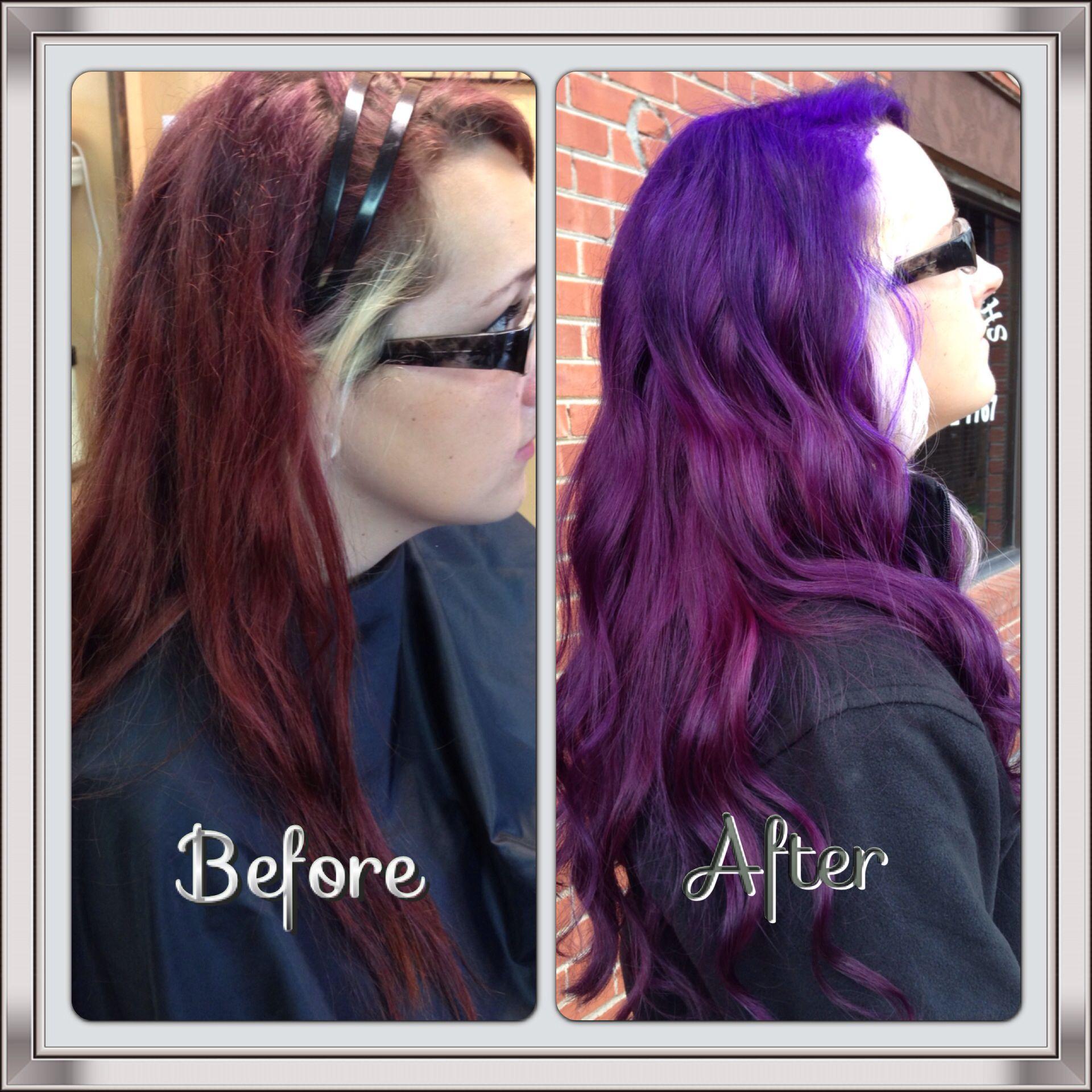 Pravana violet @ DYE' or LENGTHS Salon in Tahlequah, OK