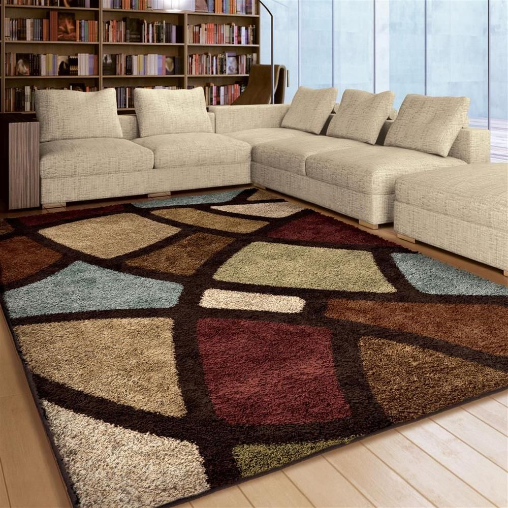 Rugs Area Rugs 8x10 Shag Rugs Carpets Living Room Big Modern Large