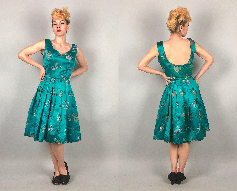 Jahrgang 1950 Kleid 50er Jahre Ost trifft auf West Cheongsam ...