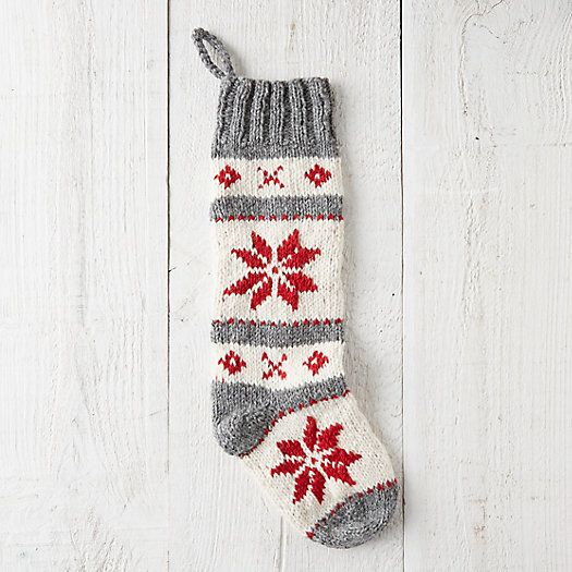 Woolen Stripes Stocking Knitted Christmas Stockings