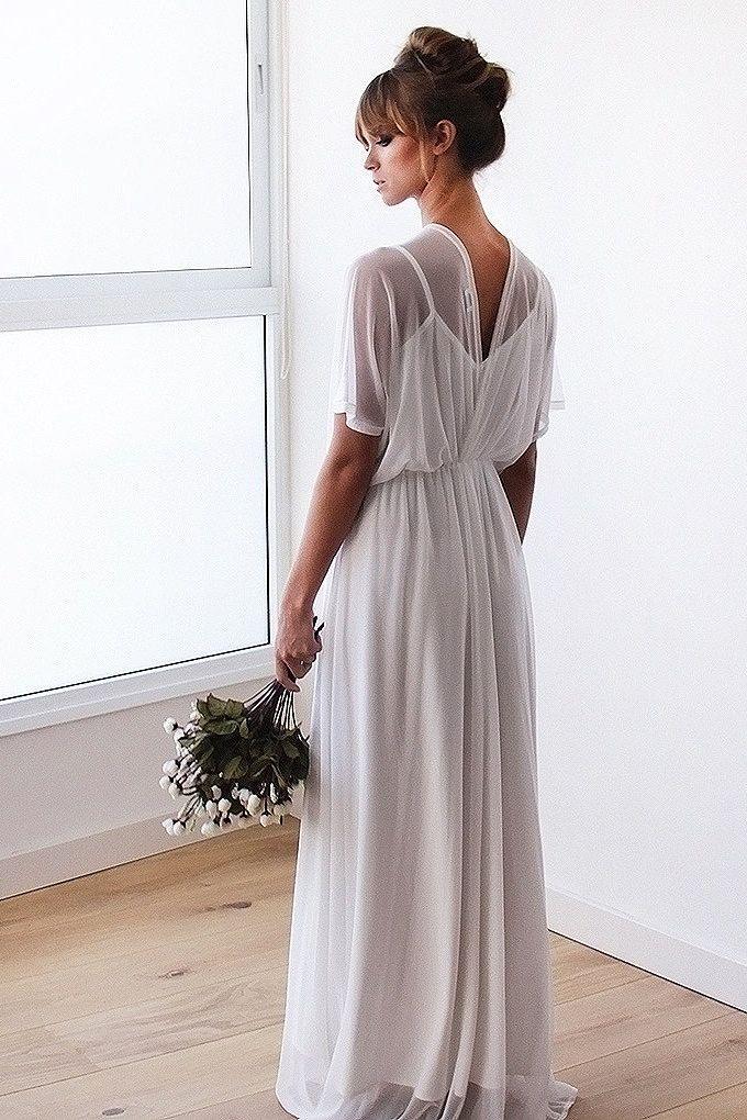 6b6f618c5bf Chiffon sheer ivory gown