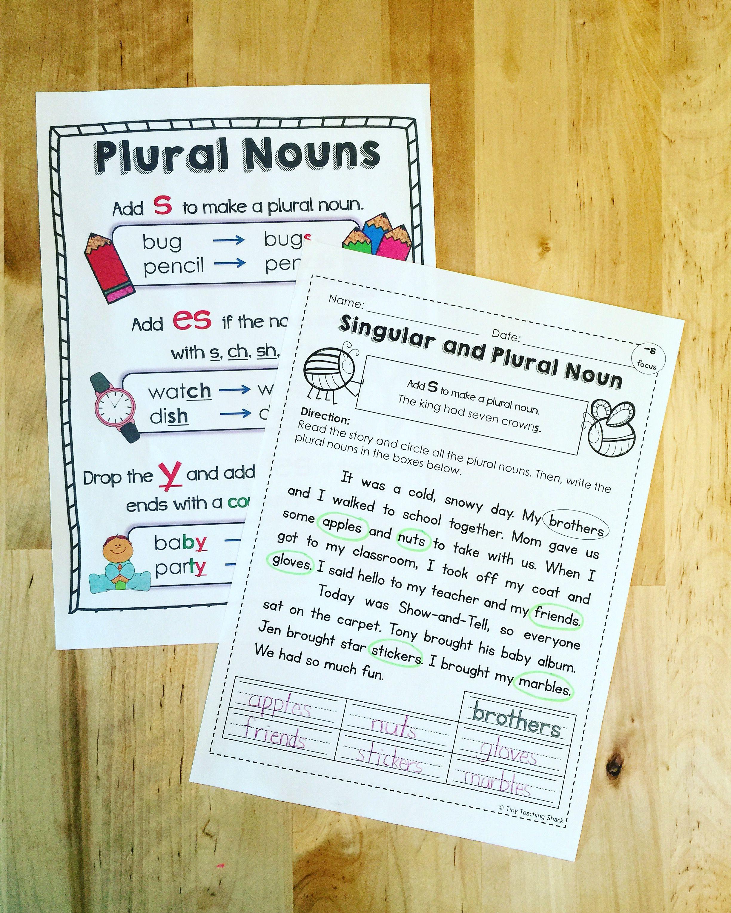 Plural Noun Worksheets Plurals Common Core Language Plural Nouns [ 3059 x 2448 Pixel ]