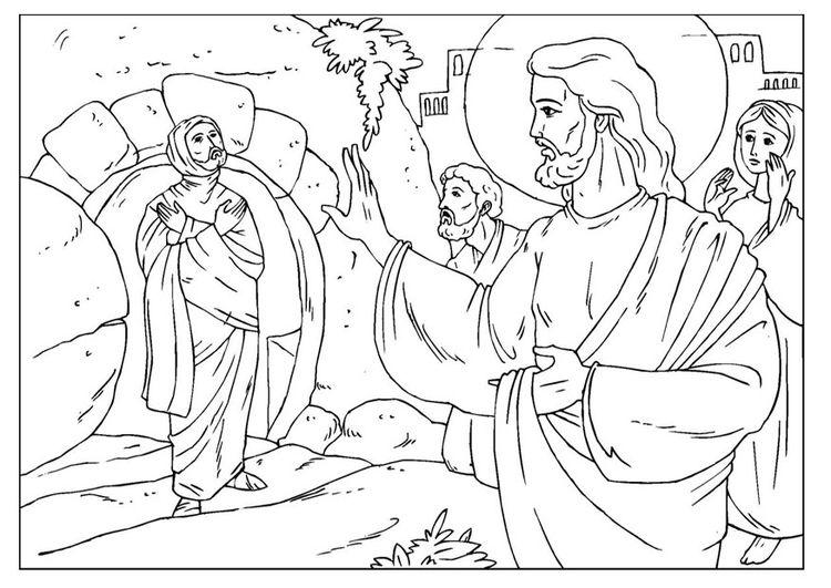 Coloring Page Lazarus John 11 38 Raising Lazarus Coloring Pages