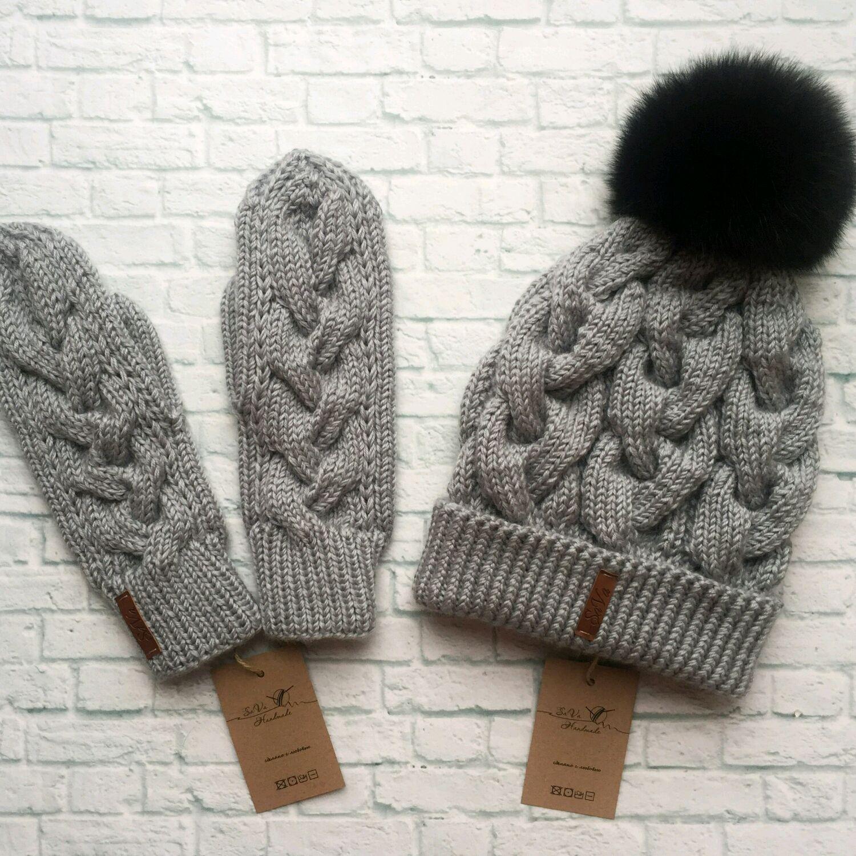 купить шапка и варежки шапка шапочка варежки варежки женские