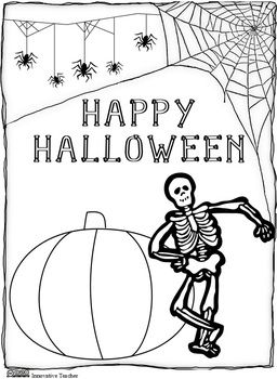 Halloween Coloring Page {FREEBIE}