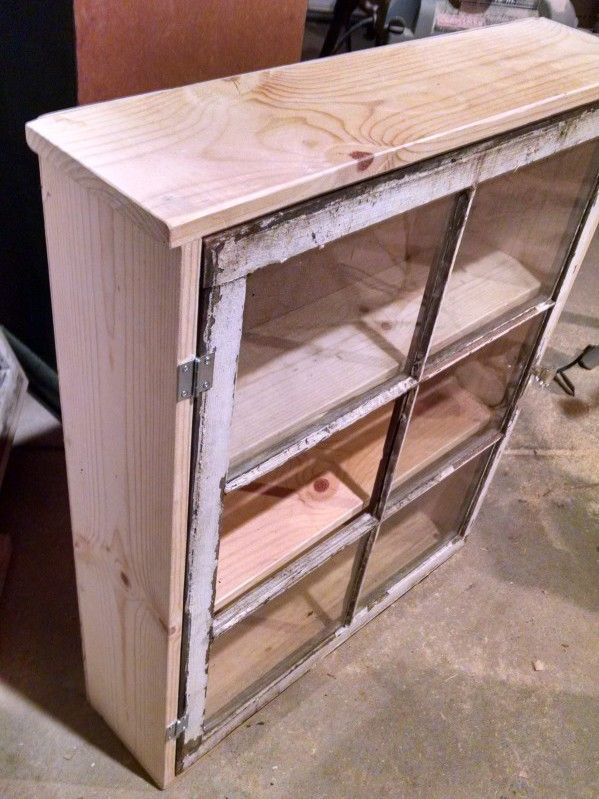 how to build a beautiful cabinet with a vintage window.