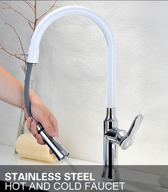 Fashion Top High Quality Single Lever White And Chrome Finished