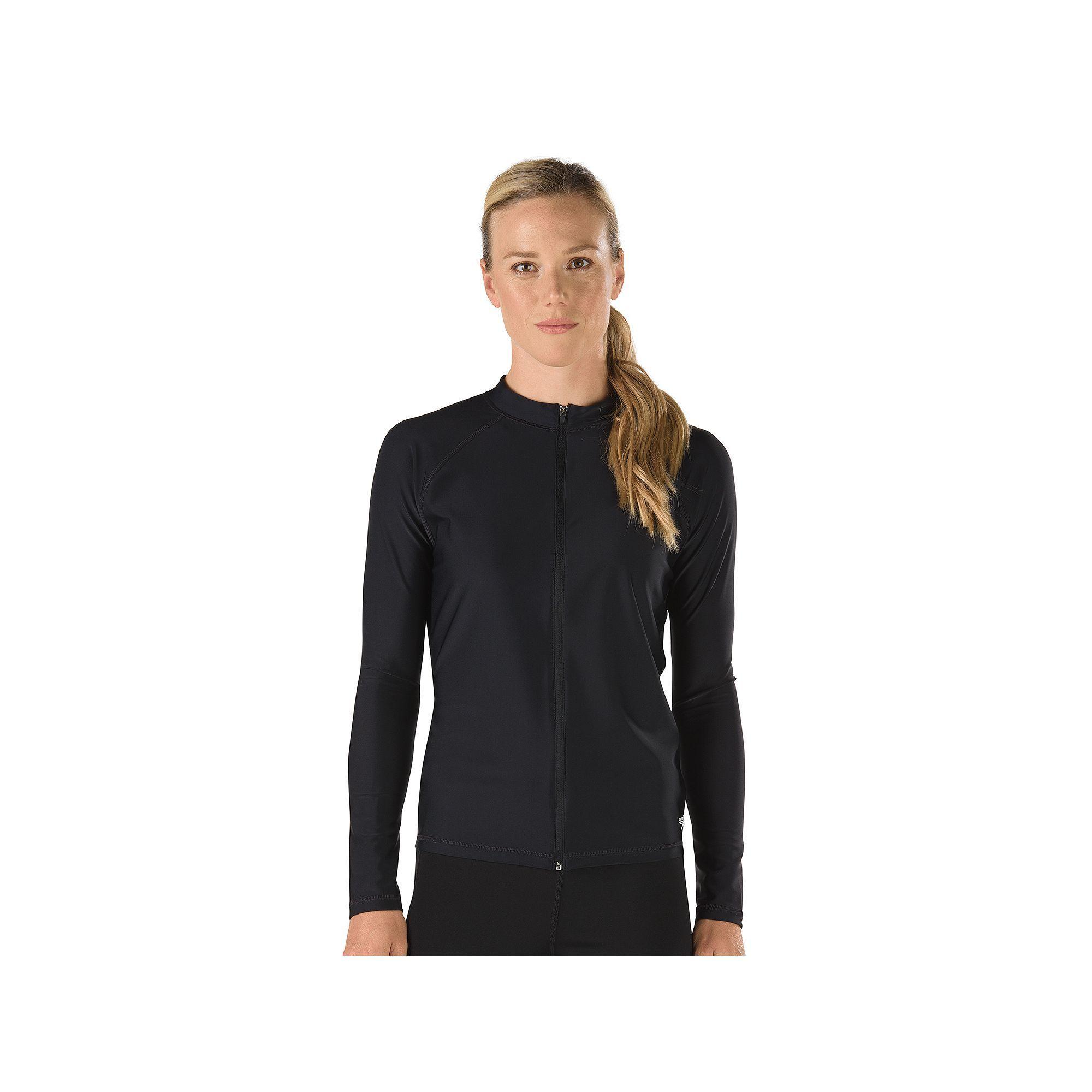 cf966472 Women's Speedo Zip-Front Rash Guard | Products | Rash guard, Women ...