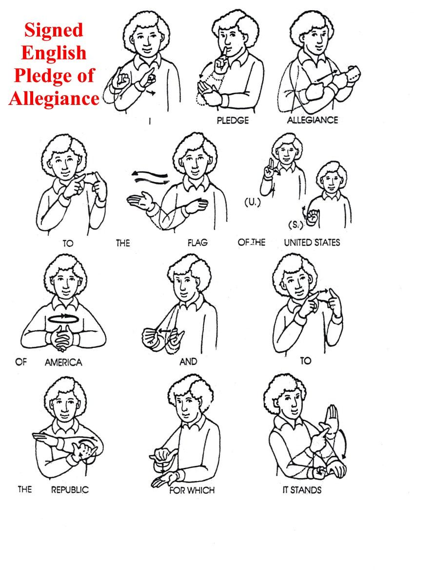 Asl Pledge Of Allegiance Sign Language Phrases What Doe Mean To Me Republic In Justice The