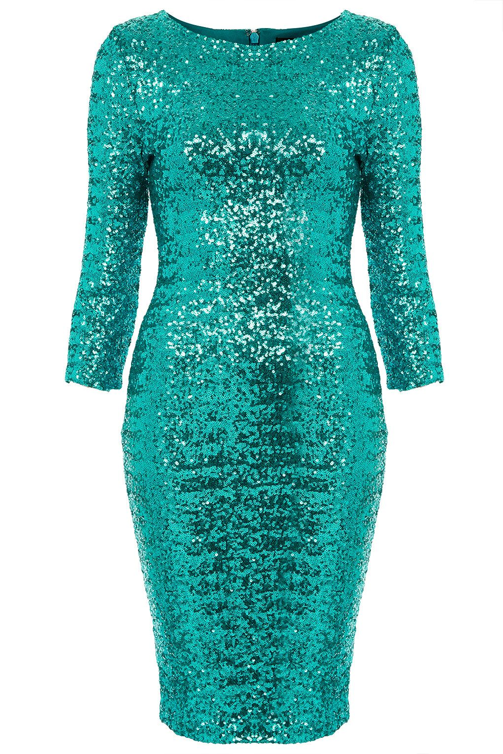 0b6f4c3e90a Topshop Sequin Midi Dress in Blue (turquoise)