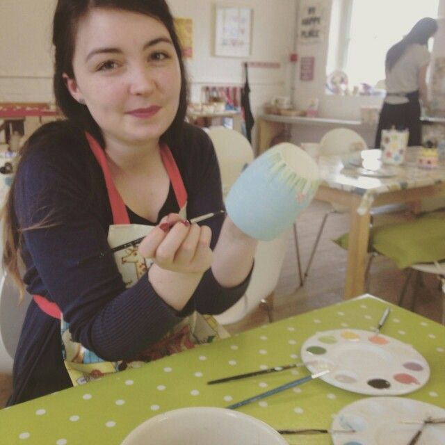 Me at paint a pot today. Keeping up the artist ability ;D