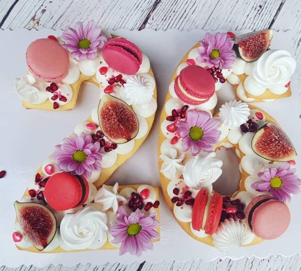 Sweet 26 Tart Cake Number Cake Lettercakegeburtstag With