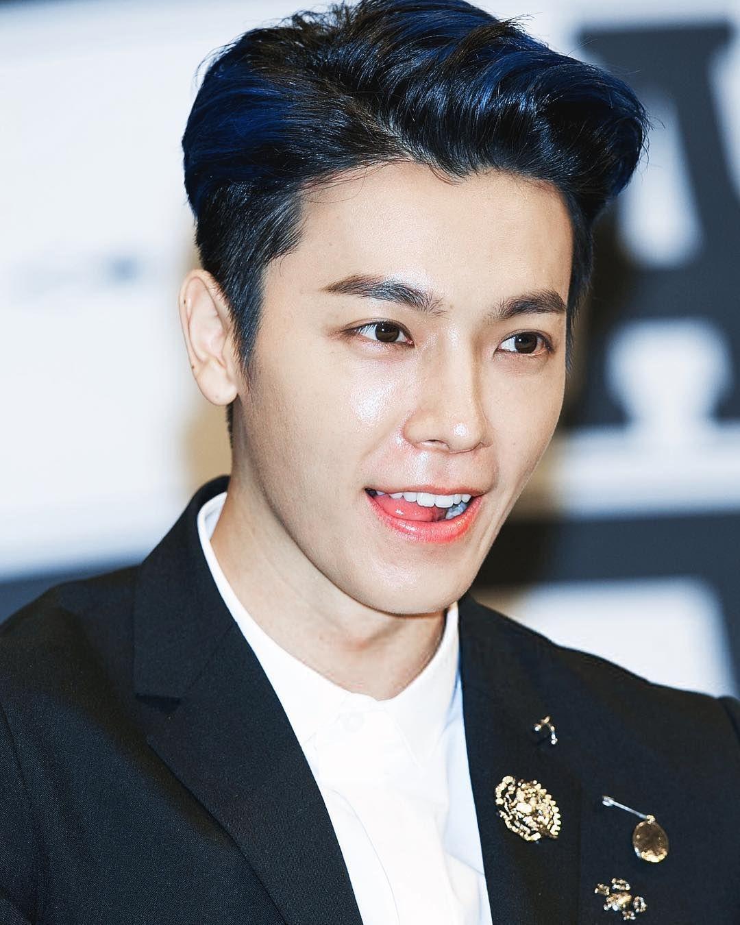 Eyeliner Blue Hair Look Is Da Best Miss This Look So Much Leedonghae Leedonghae Donghae Babyhae Super Junior Donghae Lee Donghae Super Junior