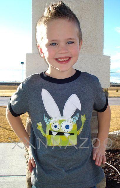 Bunny Ears Monster by Xannazoo on Etsy