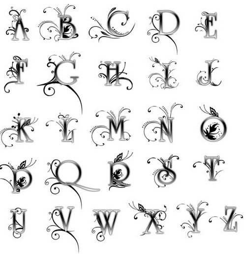 tattoo fonts - Google Search-love this letter L Tattoo Pinterest