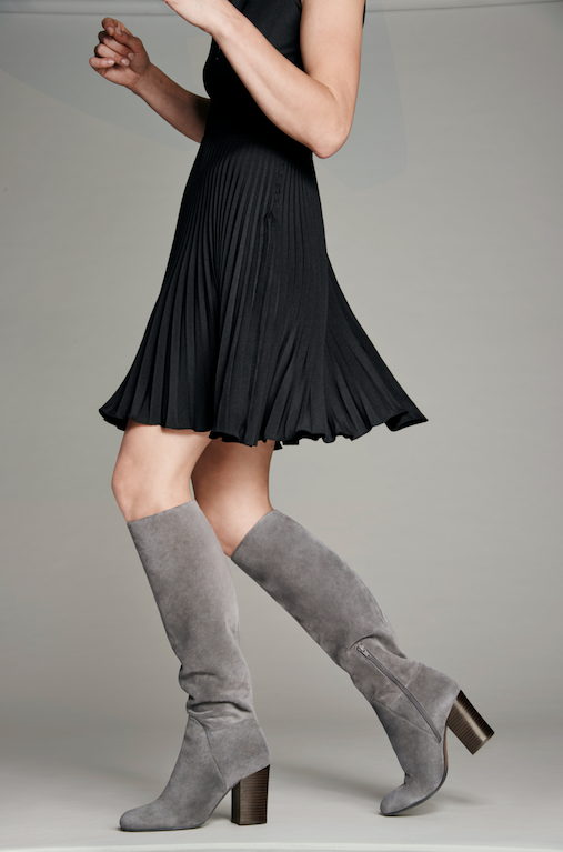 7086314f4ff Comfort meets style in these grey suede knee-high boots from  VinceCamuto