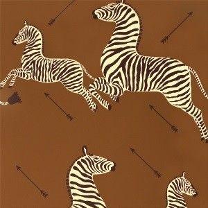 Scalamandre: Zebras Wallpaper WP81388M-003 Safari Brown ...