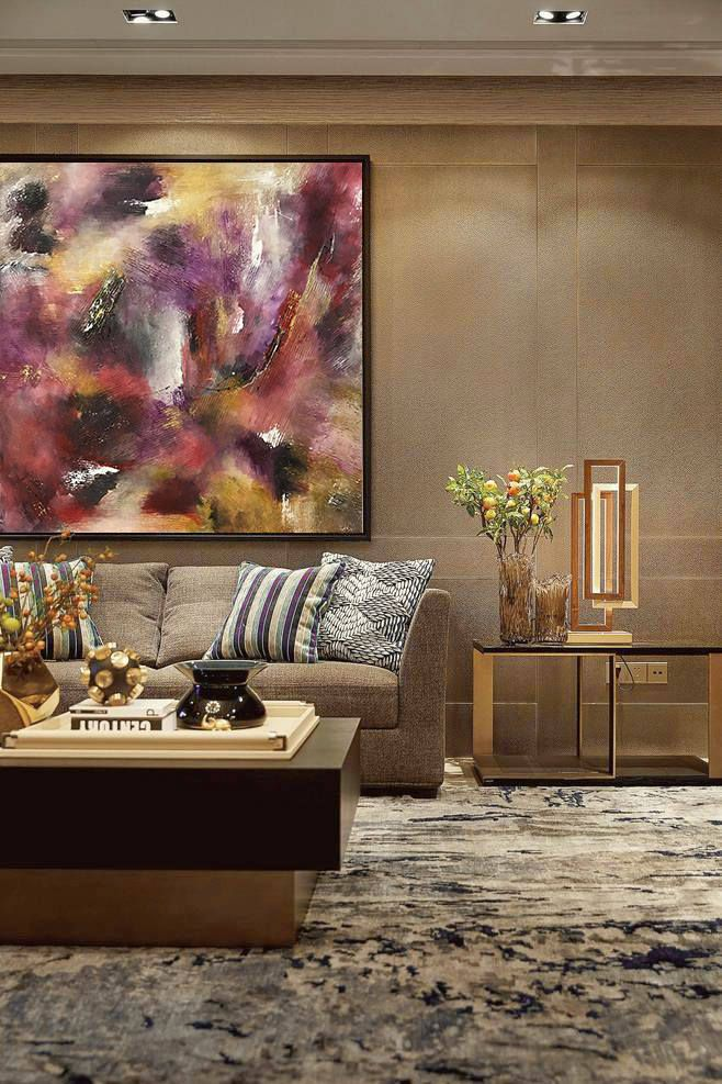 Abstract oil painting wall art abstract painting modern art gold painting original painting on canvas by