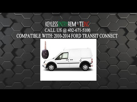 How To Change A 2010 2015 Ford Transit Connect Key Fob Remote