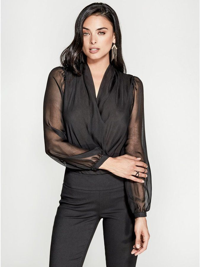 472625bb67f6 GUESS by Marciano Women s Daria Long-Sleeve Bodysuit