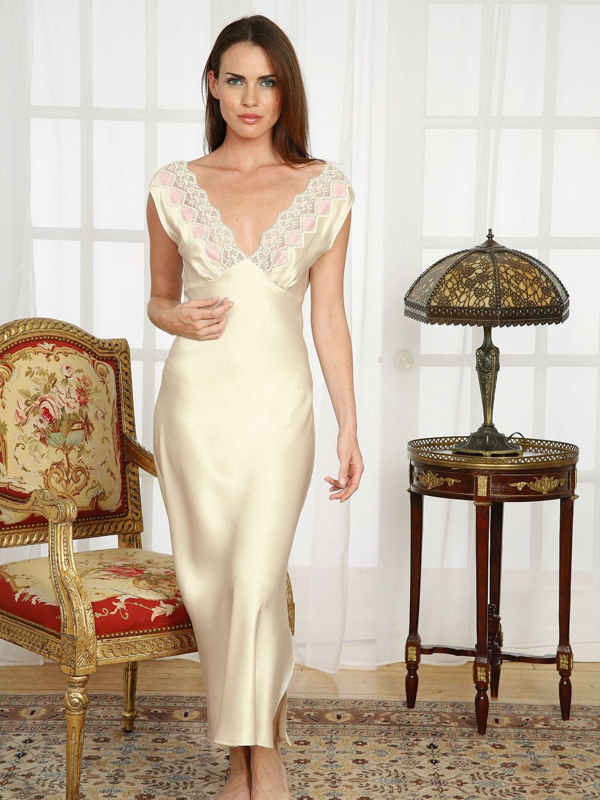 Francoise - Luxury Nightgowns - Luxury Nightwear - Schweitzer Linen ... 3802a0e4b