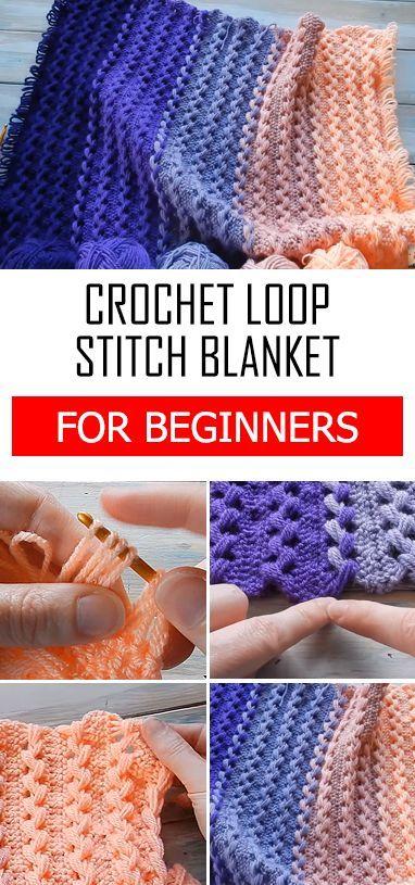 Crochet a loop stitch baby blanket tutorial