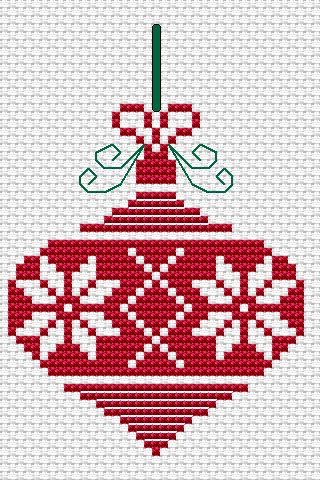 Free Cross Stitch Patterns by AlitaDesigns Christmas Ornament and