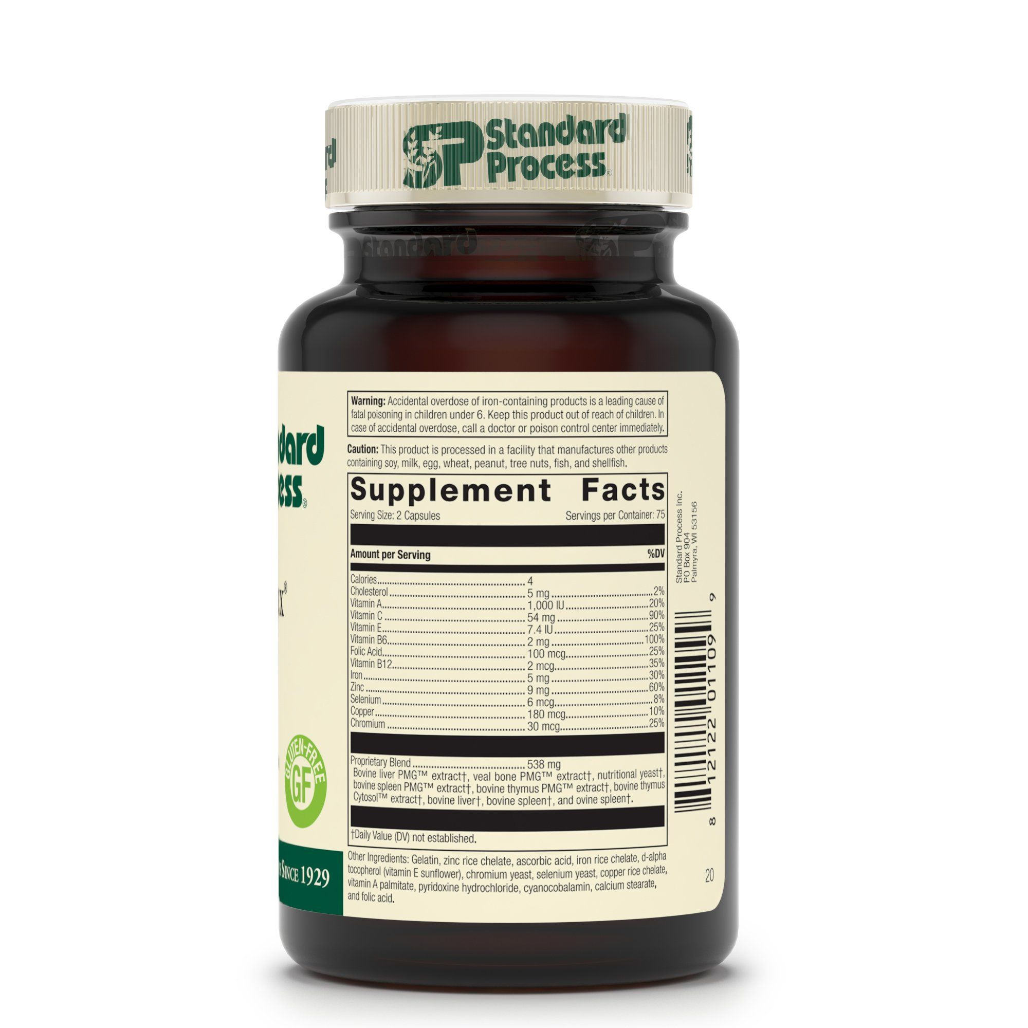 Standard Process Immuplex Immune System Function Support Supplement Provides Vitamin A C E B6 Standard Process Supplements Standard Process Liver Supplements