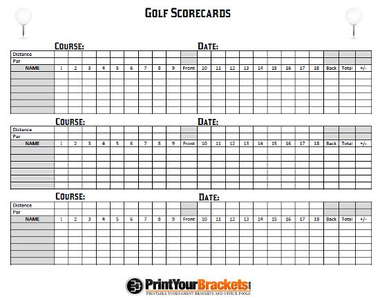 Printable Golf Scorecards Print Golf Scorecard Golf Scorecard Golf Score Card Template