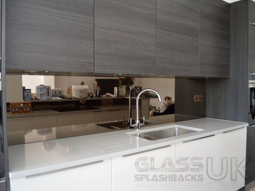 Mirrored Kitchen Splashback Espelhos De Cozinha Decorar
