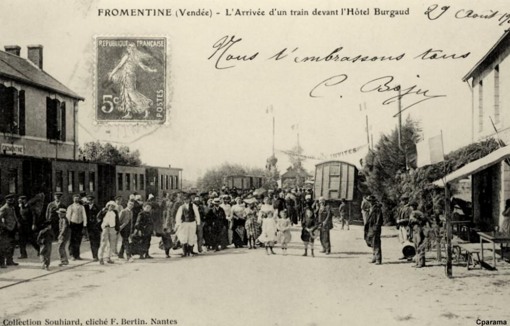 La Barre De Monts Gare De Fromentine Vendee Desservant Les Iles D Yeu Et De Noirmoutier Ile Yeu Noirmoutier Nantes