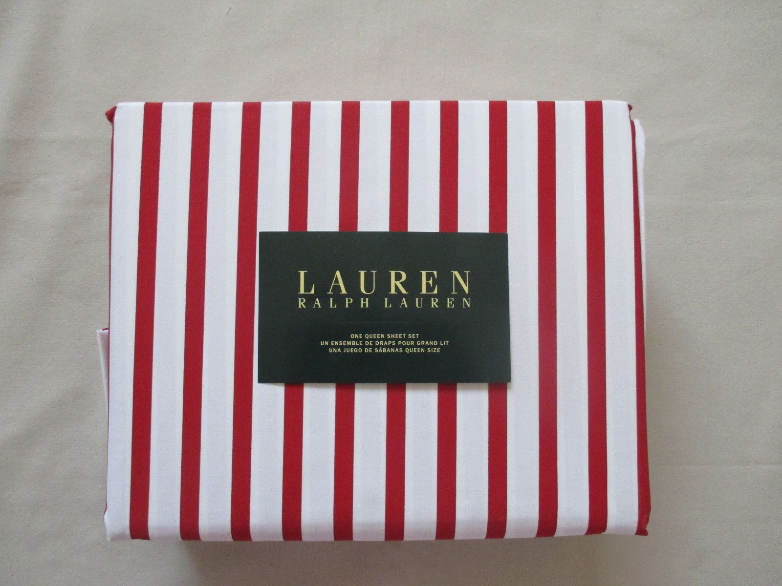 new ralph lauren linens queen sheet set contemporary red white  - new ralph lauren linens queen sheet set contemporary red white stripes ebay