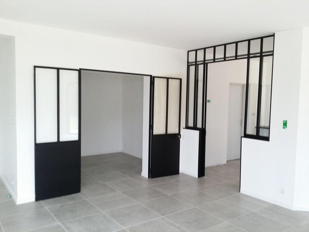 Porte type atelier \ verrière avec porte coulissante porte - porte coulissante style atelier