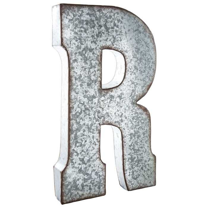 Galvanized Metal Letter Wall Decor R Metal Wall Letters Metal Letters Metal Letter Wall Decor