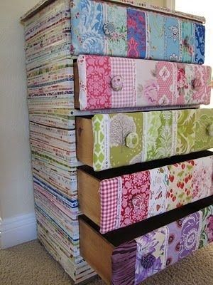purchase cheap 9bf34 c2d0b Fabric-covered chest of drawers by Monika Baker | Chest ...
