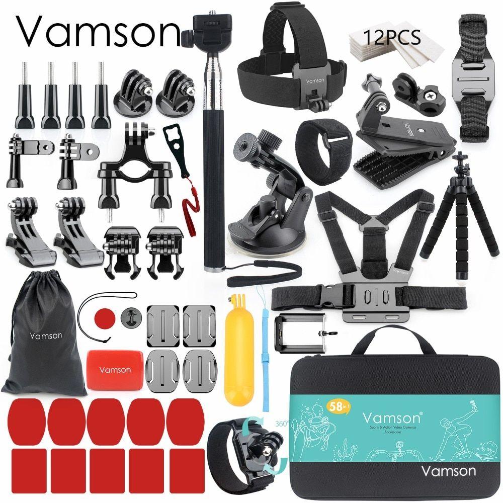 26d91940bbf585 Vamson for Gopro Accessories set for go pro hero 7 6 5 4 kit mount for SJCAM  for SJ4000 / for xiaomi for yi 4k for eken h9 VS84 Review