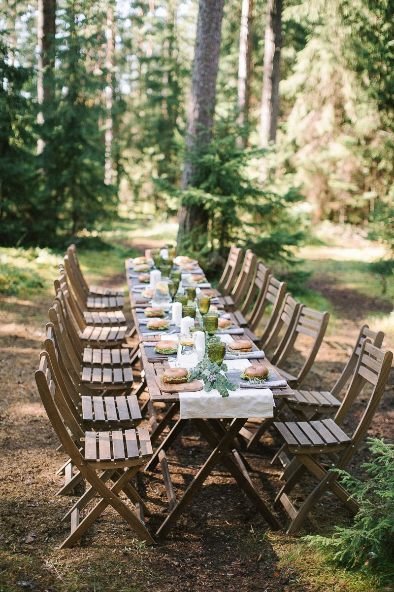 Neutral eco friendly wedding in the forest | Wedding Tablescape | fabmood.com #wedding #neturalwedding #ecofriendlywedding