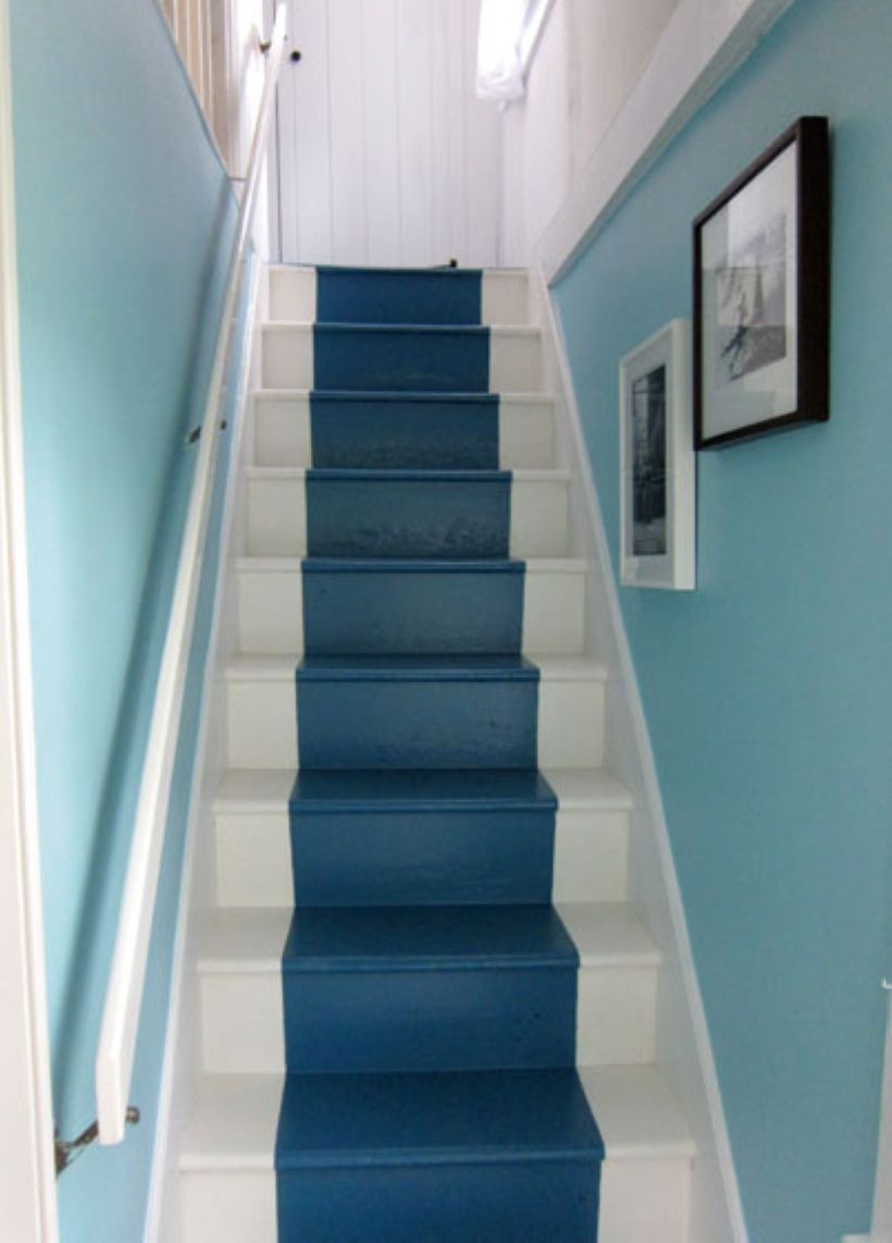 Best 34 Painted Staircase Ideas Which Make Your Stairs Look New Stair Makeover Basement Painted 400 x 300