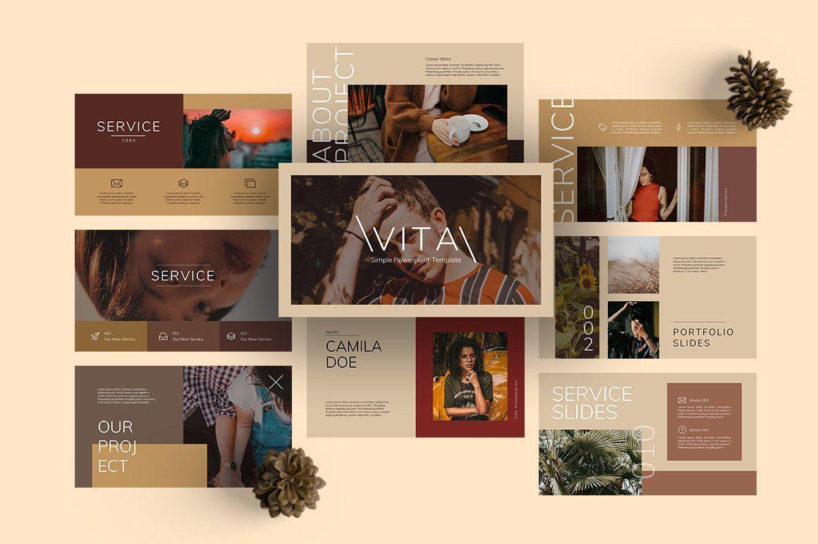 Vita Vintage Powerpoint By Semesta Studio On Creativemarket In 2020 Powerpoint Slide Designs Powerpoint Presentation Design