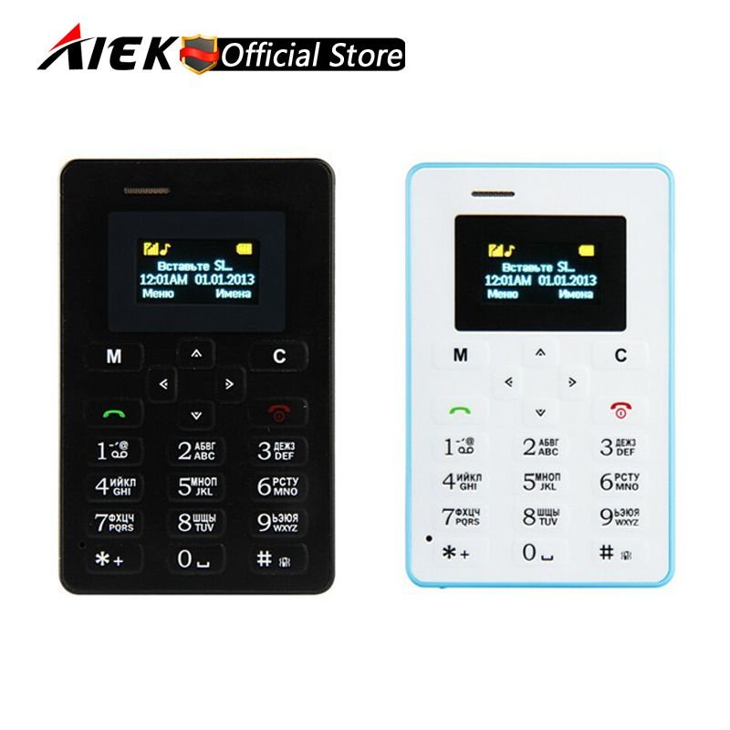 Russian Keyboard Aiek M5 Card Cell Phone 4 5mm Ultra Thin Pocket Mini Phone Quad Band Low Radiation Aeku M5 Card Pocket Phone Price 29 01 Free Shipping Ha