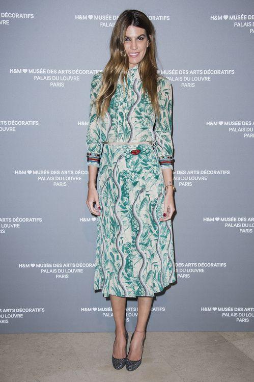 Bianca Brandolini d'Adda en robe Gucci à la soirée H&M Fashion Forward aux Arts Décoratifs à Paris